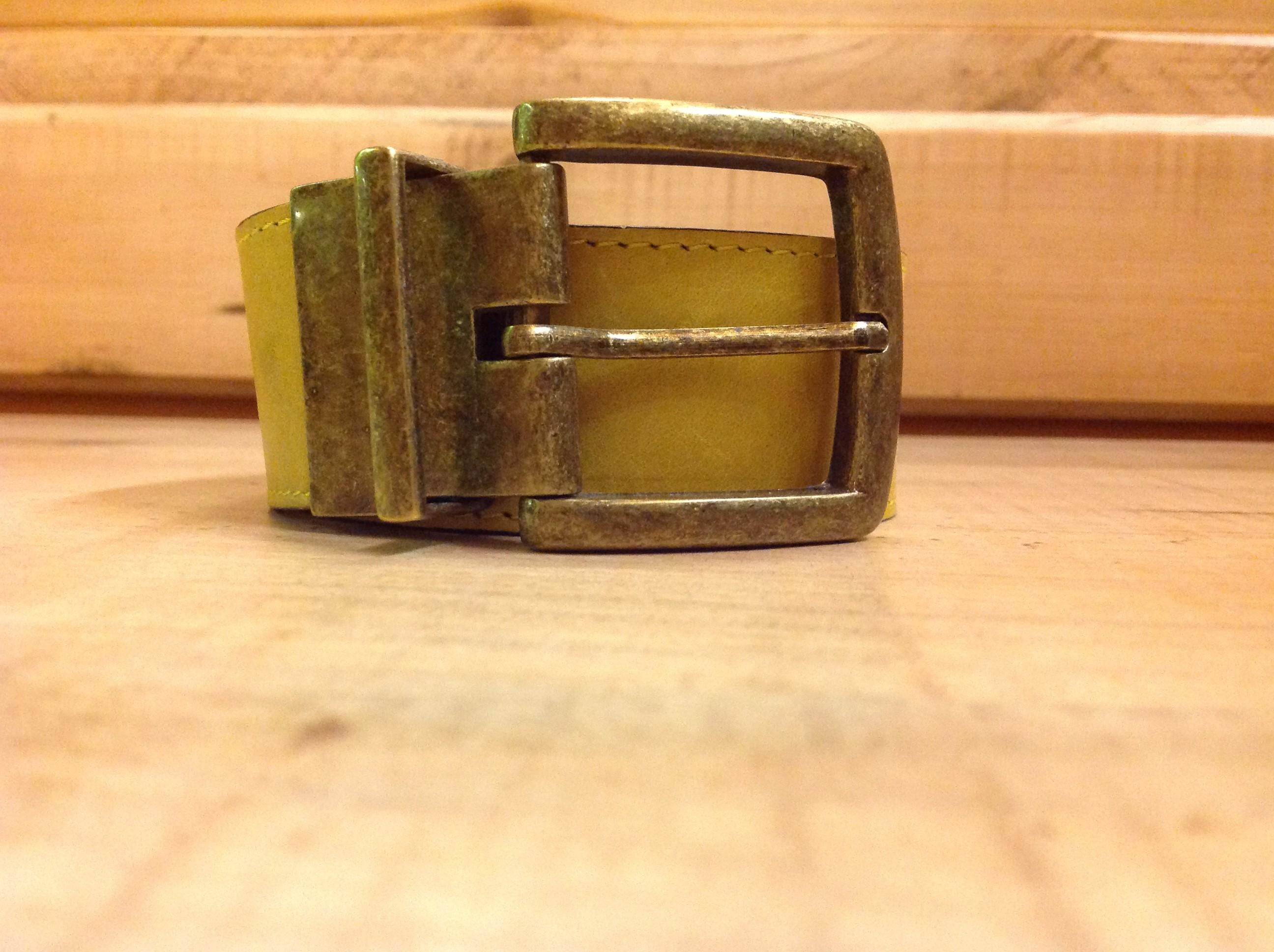 Cinturón ancho reversible de piel 100% natural