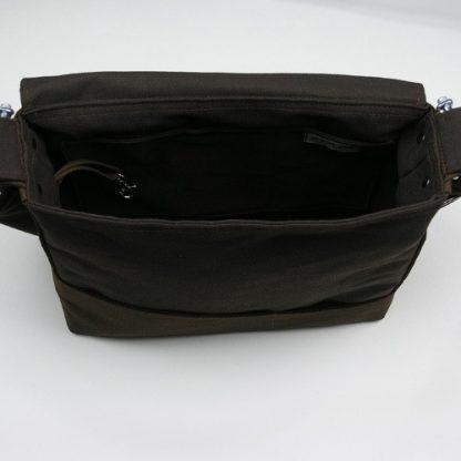 Unisex Messenger Bag en Marrón de algodón orgánico certificado