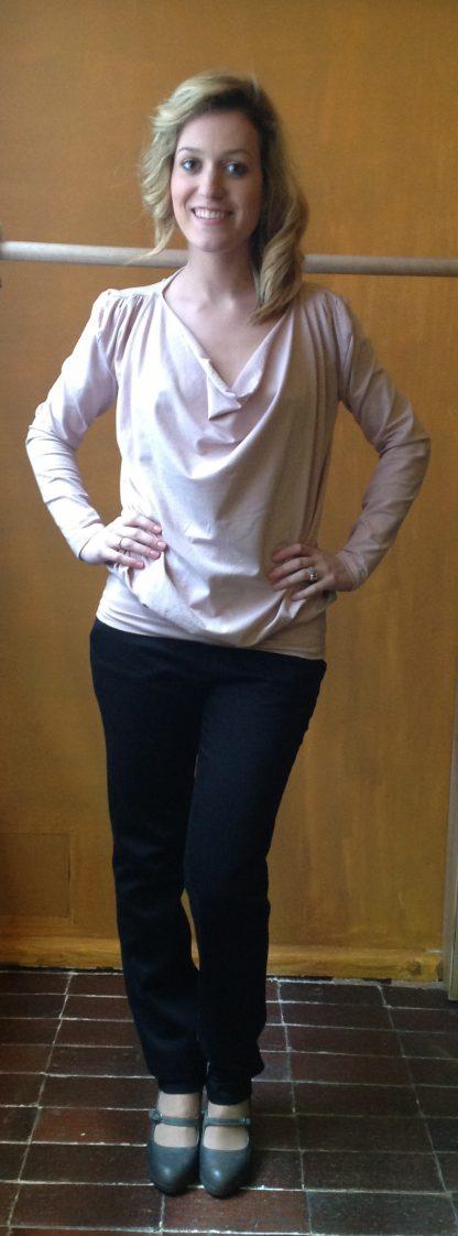 Camiseta de manga larga en algodón orgánico certificado (GOTS)